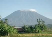 Mount Agung in Bali.