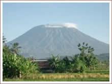 Batur volcano climbing in the Kintamani area.
