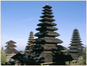 Remnants of the royal palace near Klungkung in Bali.