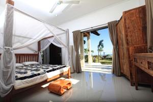 De vakantievilla op Bali heeft drie ruime slaapkamers.