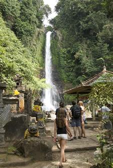 Une cascade à Bali